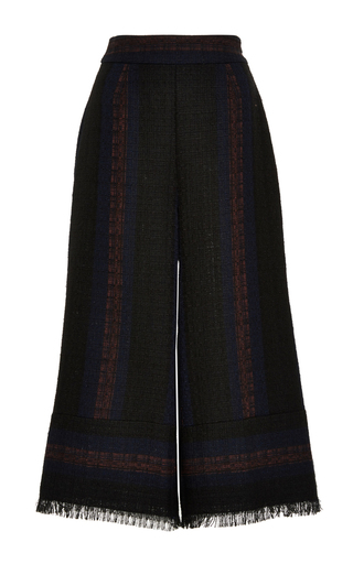 Medium sea black striped cloth gauchos