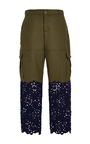 Floral Jacquard Cut Out Combo Pants by SEA Now Available on Moda Operandi