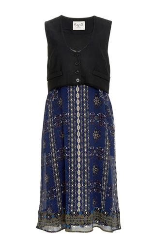 Maya Crinkle Silk Cotton Vest Dress by SEA Now Available on Moda Operandi