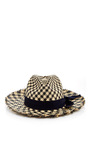 Two Toned Houndstooth Panama Hat by SENSI STUDIO Now Available on Moda Operandi