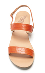 Clio Printed Croc Double Strap Sandals by ANCIENT GREEK SANDALS Now Available on Moda Operandi