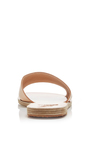 Taygete Tan Leather Slip On Sandals by ANCIENT GREEK SANDALS Now Available on Moda Operandi