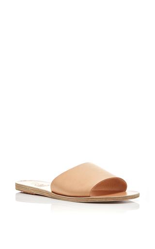 Medium ancient greek sandals tan taygete tan leather slip on sandals
