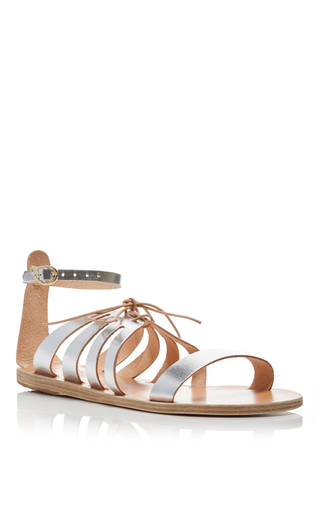 Iphigenia Leather Cut Out Strap Sandals by ANCIENT GREEK SANDALS Now Available on Moda Operandi