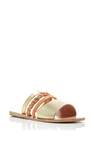 Helene Calf Leather Mixed Pattern Sandals by ANCIENT GREEK SANDALS Now Available on Moda Operandi