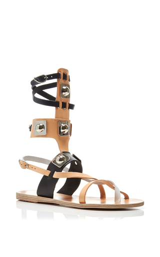 Peter Pilotto X Ancient Greek Sandals Leather Three Toned Gladiator Sandals by ANCIENT GREEK SANDALS Now Available on Moda Operandi