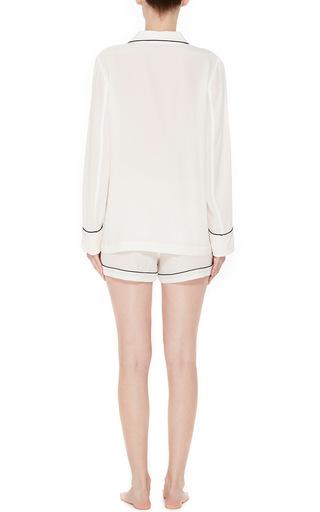 White Silk Lillian Pajama Set  by EQUIPMENT Now Available on Moda Operandi