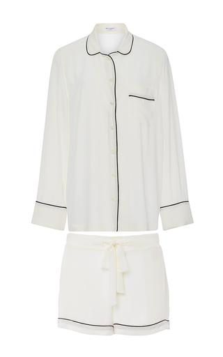 Medium equipment white white silk lillian pajama set