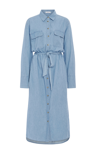 Delany Denim Shirt Dress With Waist Tie by EQUIPMENT Now Available on Moda Operandi
