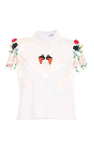 Medium vivetta white riccarda polo shirt