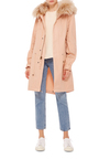 Racoon Trimmed Unlined New Marble Canvas Parka by MR & MRS ITALY Now Available on Moda Operandi