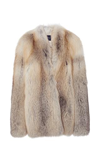 Medium derek lam brown golden island fox fur coat
