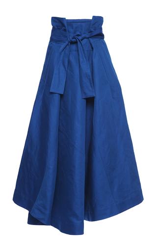Medium marni blue cotton linen gabardine skirt