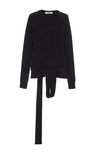 Medium msgm black fleece sweatshirt