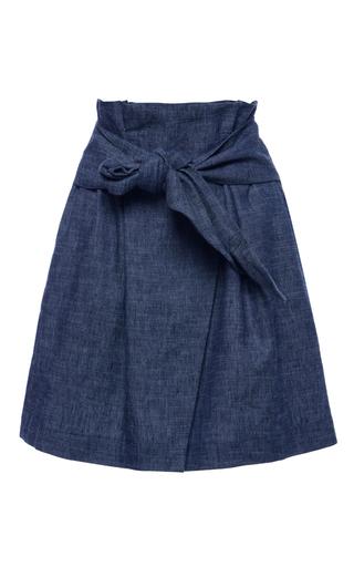 Medium msgm dark wash chambray wrap skirt