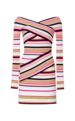 Pink Stripe Knit Dress by MSGM Now Available on Moda Operandi