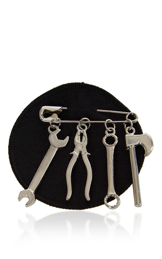 Medium j w anderson black tool brooch