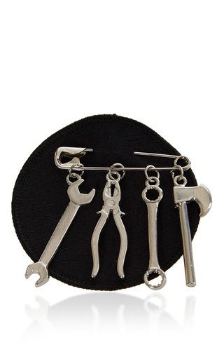 Medium j w anderson black tool brooch