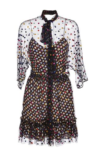 Medium marco de vincenzo brown tulle polka dot dress
