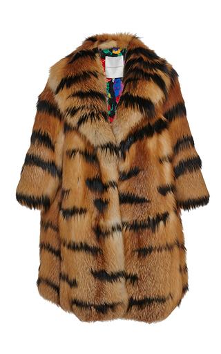 Medium marco de vincenzo brown zebra fox coat