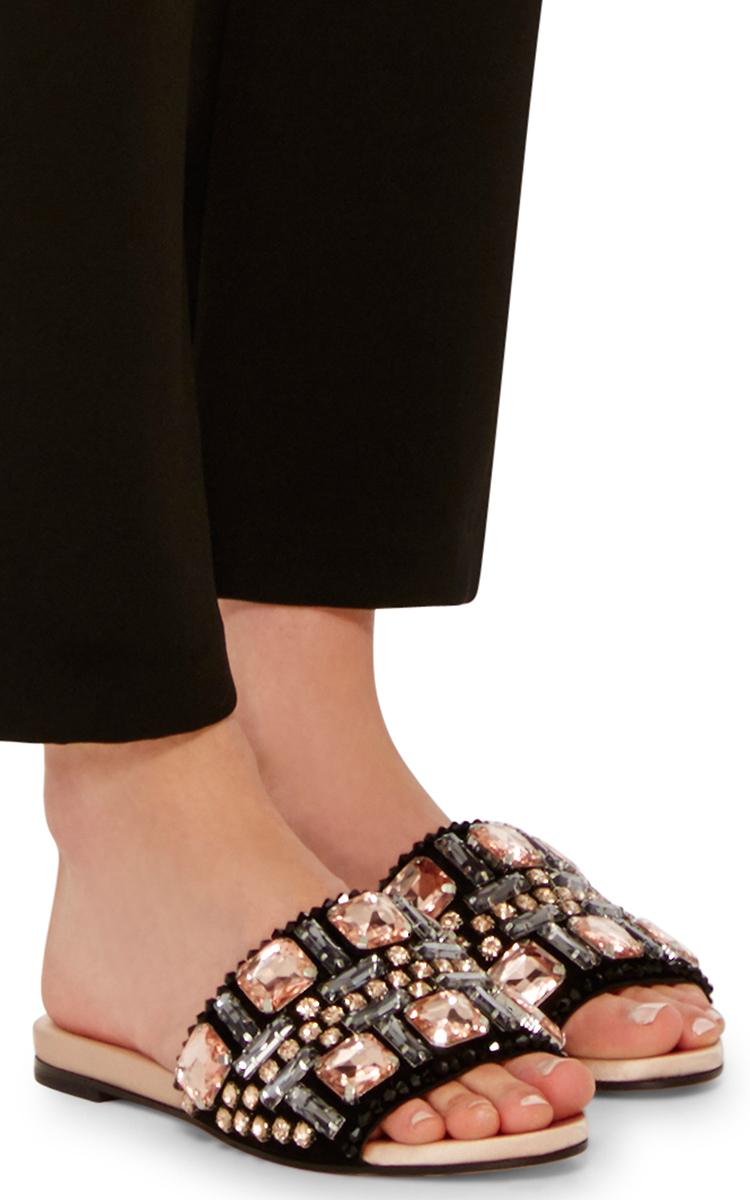 Rochas Embellished silk sandals 5OCIac