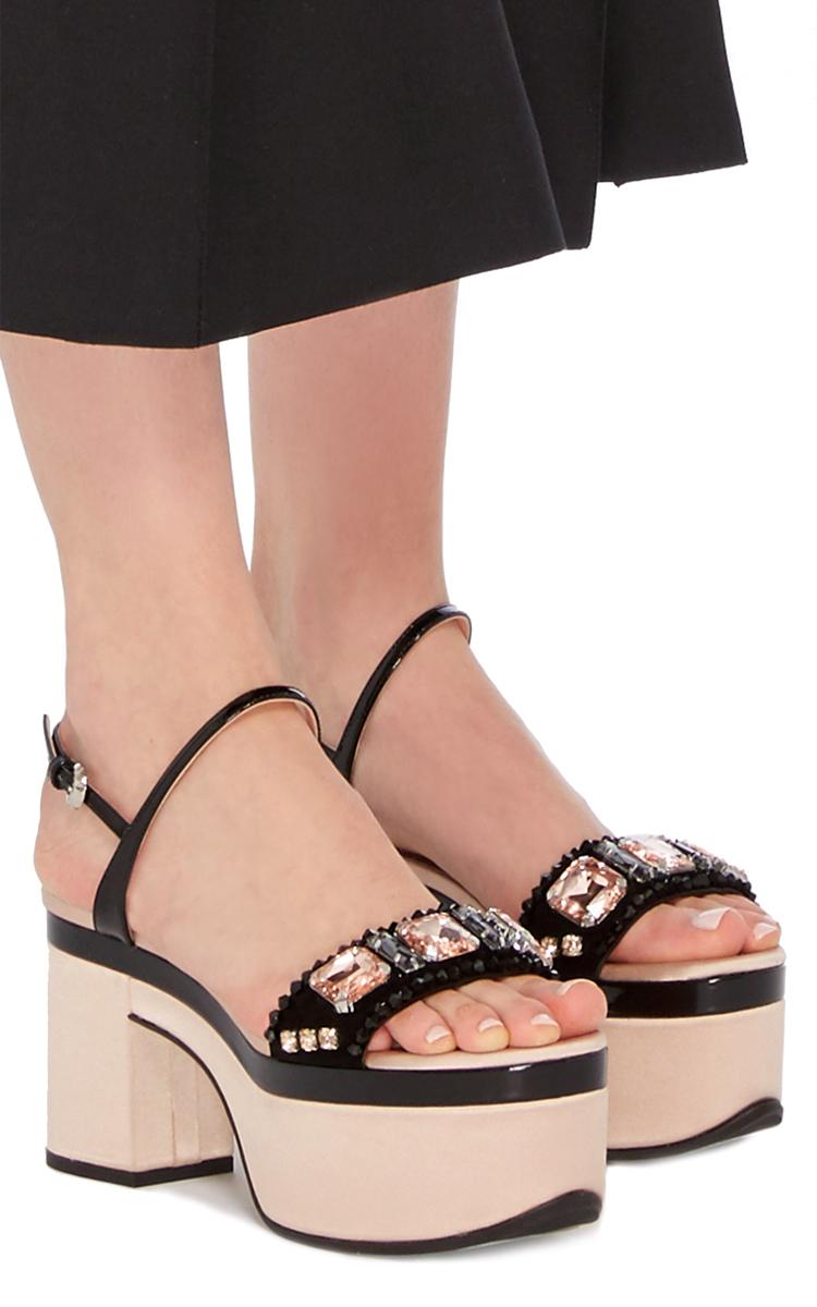 3c85017baac RochasCrystal Embellished Platform Sandals. CLOSE. Loading