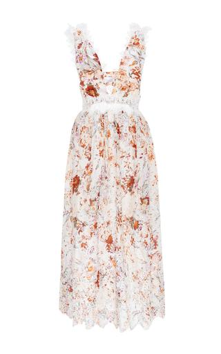 Medium zimmermann floral silk cotton voile alchemy flutter dress