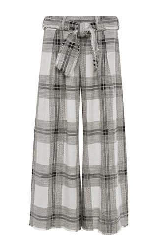 Medium zimmermann plaid empire raw cotton and linen plaid lounge pants