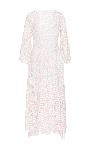 Ivory Floral Lace Guipure Dress  by ZIMMERMANN Now Available on Moda Operandi