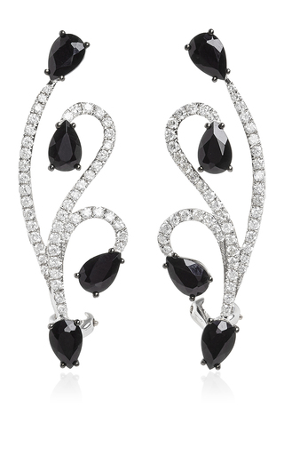 Medium as29 gold white gold and onyx lucy earrings