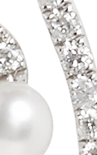 White Gold And Pearl Lucy Earrings by AS29 Now Available on Moda Operandi