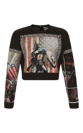 Medium fausto puglisi black marvel graphic sweatshirt