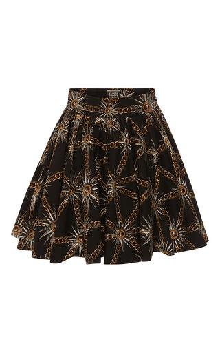 Medium fausto puglisi black star and chain flared skirt