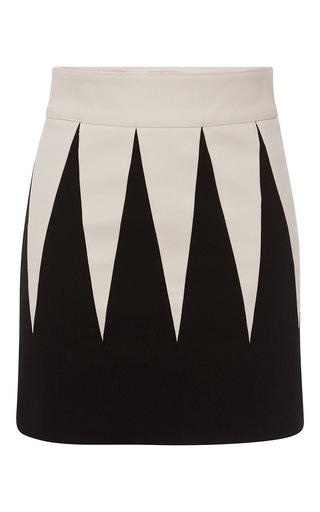 Medium fausto puglisi black geometric mini skirt