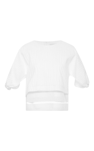 Embossed Cotton Jacquard Top by MSGM Now Available on Moda Operandi