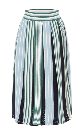 Pleated Knit Skirt by MSGM Now Available on Moda Operandi