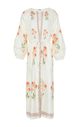 Penny Raw Silk Midi Dress by VILSHENKO Now Available on Moda Operandi