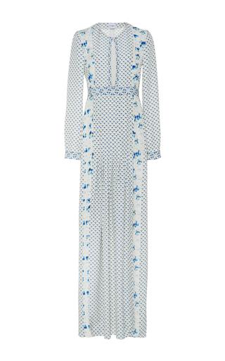 Anais Silk Long Sleeved Maxi Dress by VILSHENKO Now Available on Moda Operandi