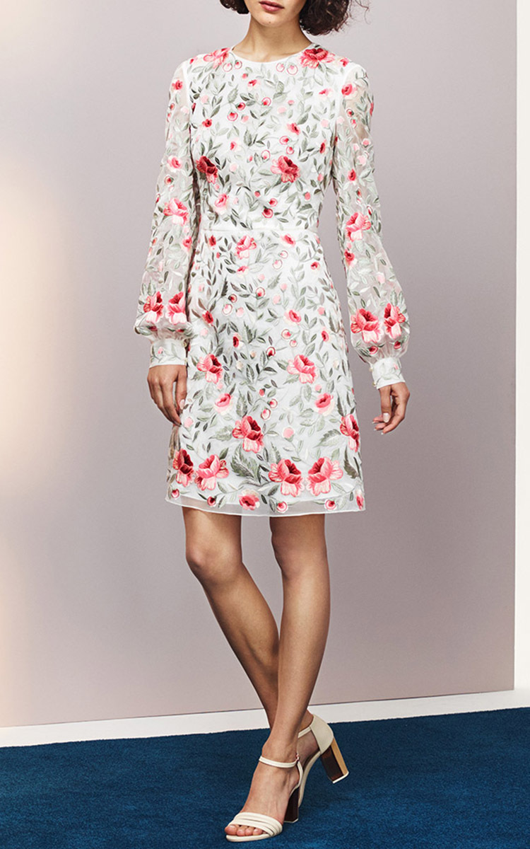 Loading. FULL SCREEN. Click Product to Zoom. VilshenkoSue Organza  Embroidered Dress. No Longer Available. Color. ivory