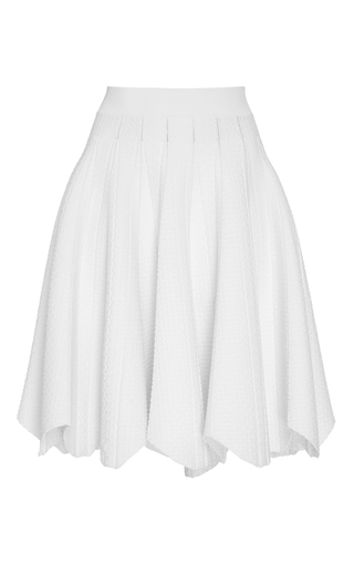 Medium jonathan simkhai white pointelle flare skirt
