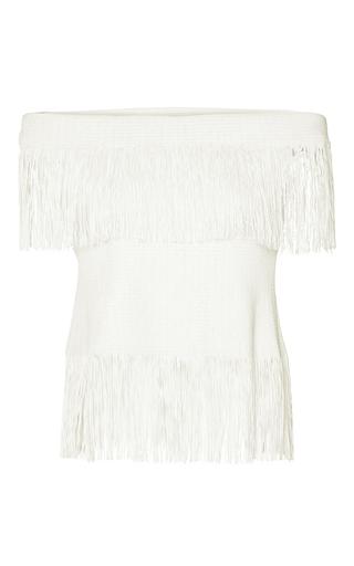 Medium jonathan simkhai white strapless fringe top