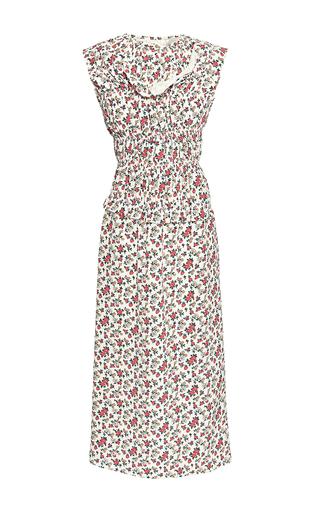 Medium nina ricci ivory flower print silk dress