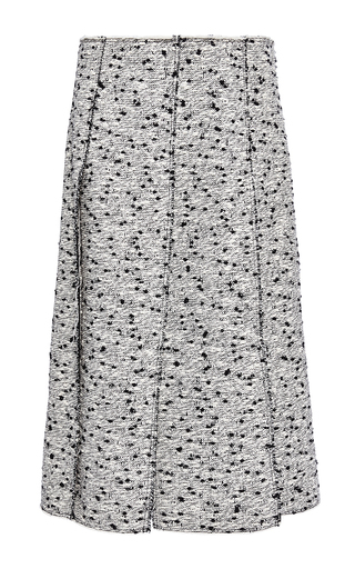 Cotton Tweed Panelled Skirt by NINA RICCI Now Available on Moda Operandi