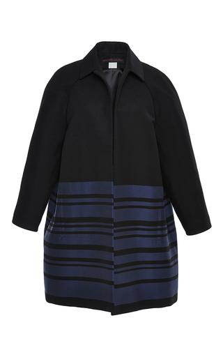 Medium martin grant black striped cocoon coat
