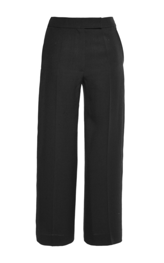 Silk Cropped Loose Fitted Pants by MARTIN GRANT Now Available on Moda Operandi