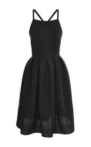 Medium martin grant navy sleeveless pleat dress