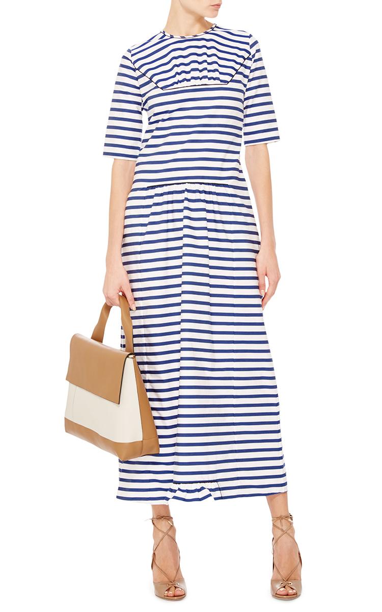 f198a9564dc8 MarniCotton Short Sleeved Striped Maxi Dress. CLOSE. Loading