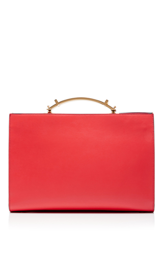 Leather Rectangular Shoulder Bag by MARNI Now Available on Moda Operandi