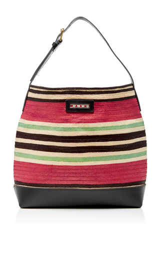Striped Straw Bucket Bag by MARNI Now Available on Moda Operandi