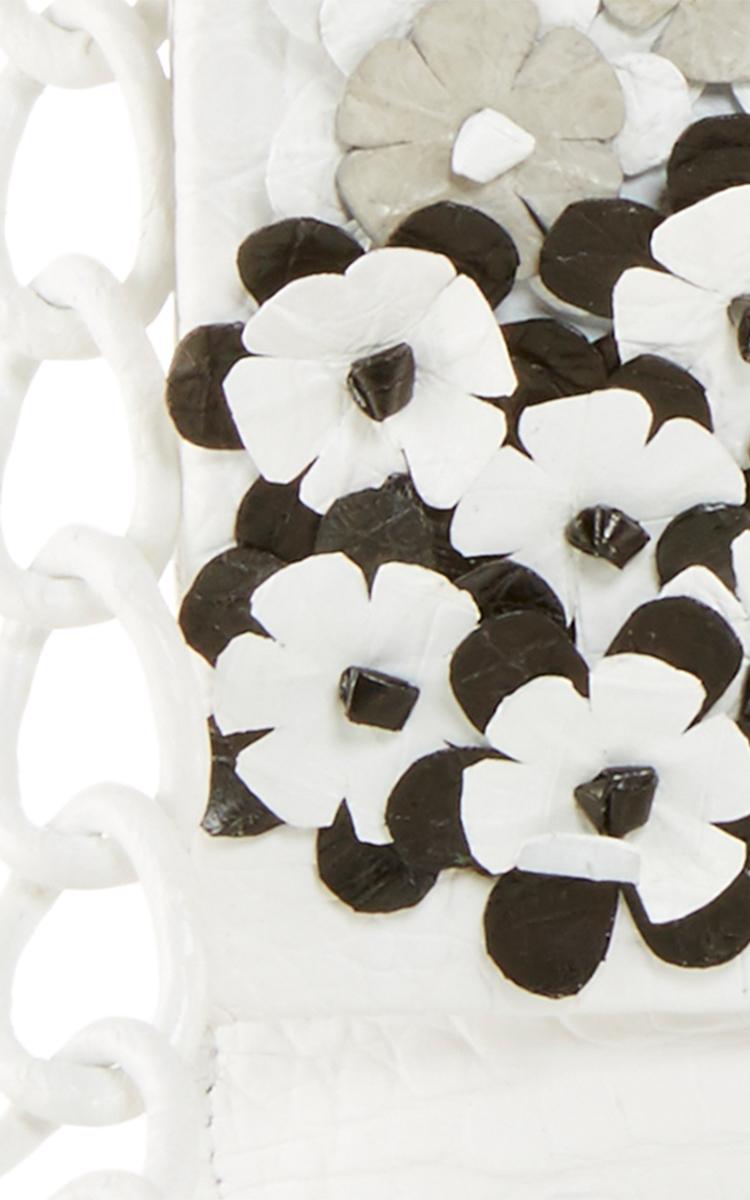 Tonal Crocodile Floral Shoulder Bag By Nancy Gonzalez Moda Operandi